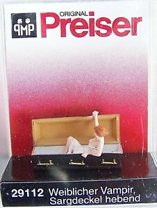 Details about NEW 2019 RELEASE HO Preiser 29112 Female VAMPIRE Figure  Holding Open Coffin Lid