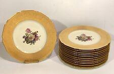 Set 12 KRAUTHEIM BAVARIAN Gold Encrusted CABINET PLATES