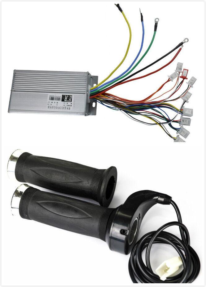 48v 1800w Brushless Speed Controller + Thredtle Grips fr Scooter Drift Cart