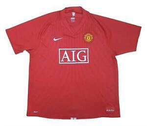 Manchester United 2007-09 ORIGINALE Maglietta (BUONO) XXL SOCCER JERSEY