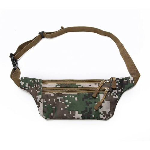 Genuine Leather Men Mini Sling Chest Bag Anti-thief Hip Fanny Pack Waist Purse #