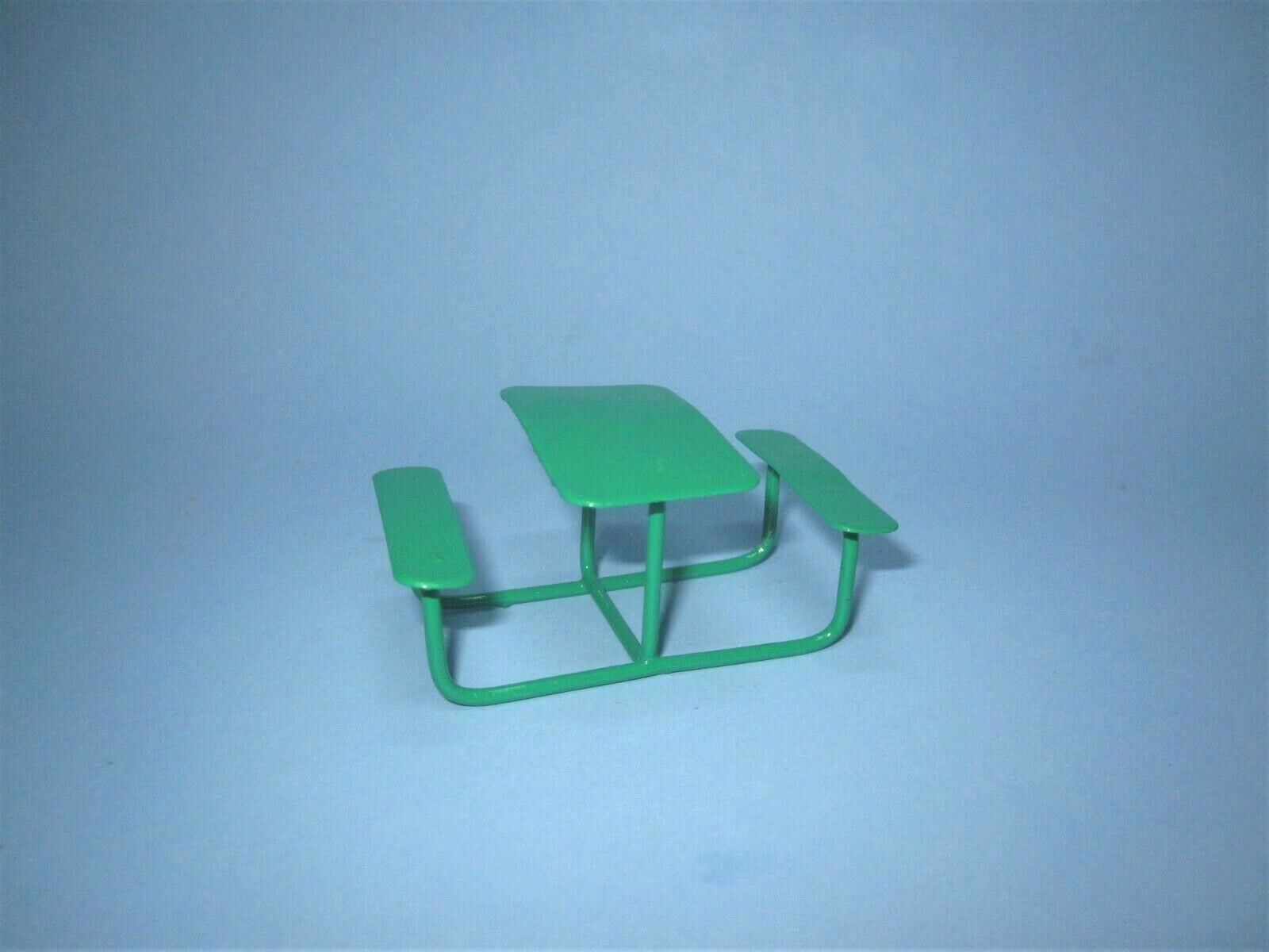 Mini Picnic Table Bench Outdoor Fairy Garden Patio Furniture Dollhouse Supply