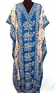 Hippy-Boho-Maxi-New-Long-Kaftan-Dress-Free-Size-Women-Caftan-Elephant-Gown