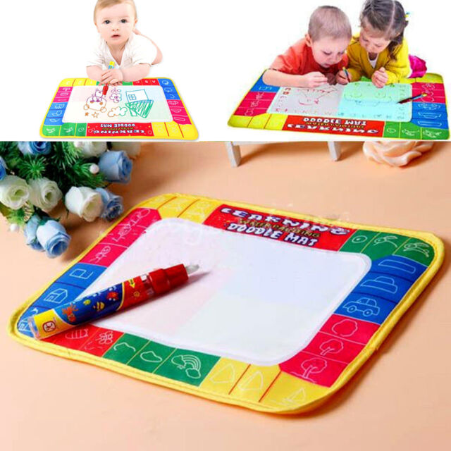 New Kids Water Writing Painting Drawing Mat Board Magic Pen Doodle Toy Xmas Gift