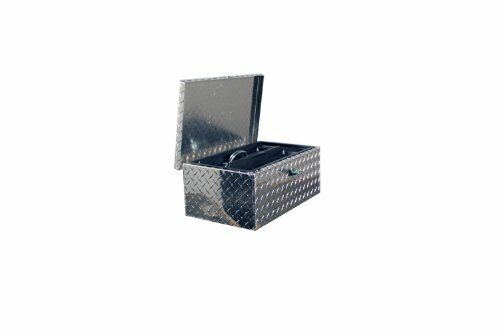 "Durable Universal Aluminum Diamond Plate Truck Tote Tool Box Storage 30 x 12/"""