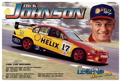 DICK JOHNSON CAR METAL TIN SIGN