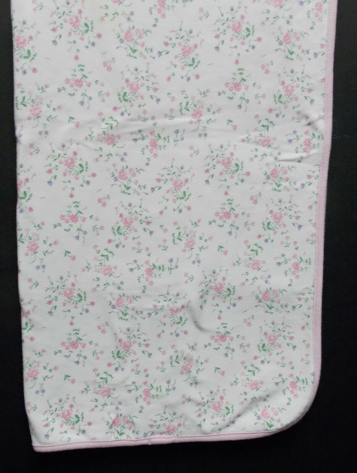 Small Wonders Baby Blanket 100 Cotton Cream Pink Purple Flowers 28 X 28 For Sale Online