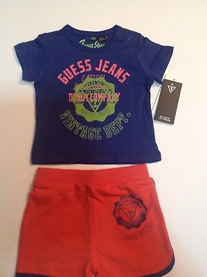 GUESS KIDS Top And Shorts Navygrey GUESS KIDS from Baby