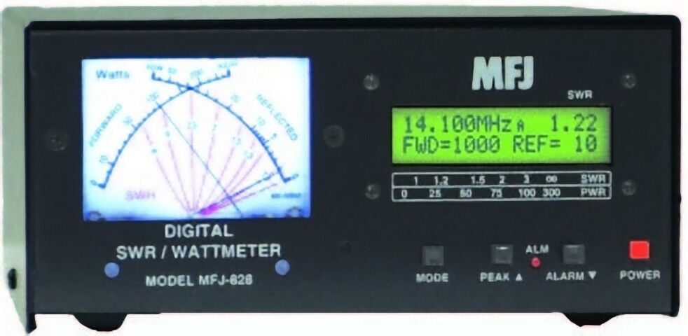 MFJ-828 Digital HF/6M (1.8 - 54MHz) SWR/Wattmeter with Frequency Counter. Buy it now for 284.95