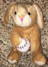 "Tan SOFT CUDDLY Easter Bunny Rabbit Baseball Dan Dee Plush 12"" GIFT Toy"
