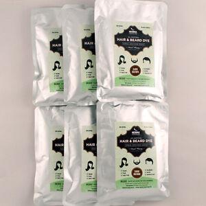 Pack Of 6 Dark Brown Henna Hair Beard Dye 100 Natural Henna