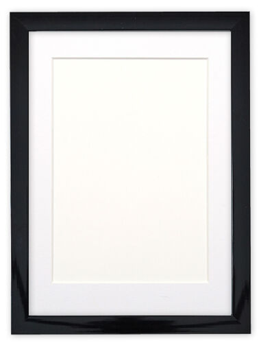 BLACK-WHITE-GLOSS-Picture-frame-photo-frame-poster-frames-WITH-BESPOKE-MOUNT