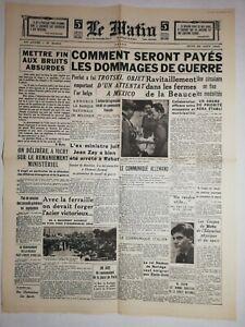N1143-La-Une-Du-Journal-Le-Matin-22-aout-1940-dommages-de-guerre