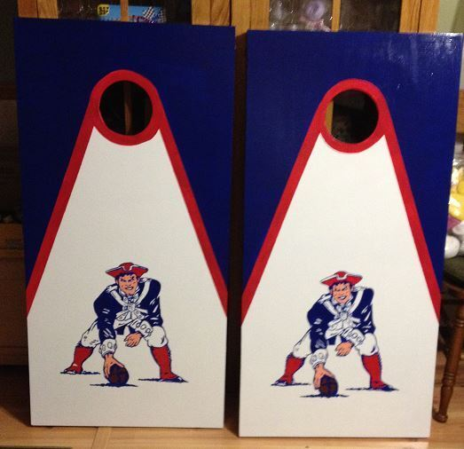 New  England Patriots  old Soldier  Cornhole boards and Free Bags  authentic