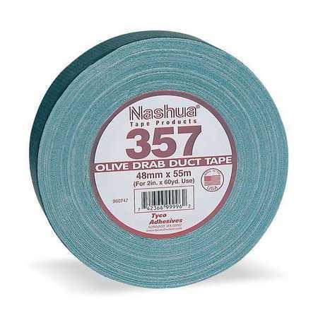 NASHUA 357 Duct Tape,72mm x 55m,13 mil,Olive Drab