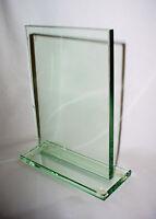 Light Green Rectangle Glass Award Plate Plaque