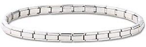 Italian-Modular-Charm-Bracelet-Stainless-Steel-Silver-4-mm-Starter-Free-Shipping