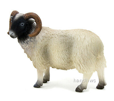 Mojo Fun 387081 Black Faced Ram Sheep - Realistic Farm Animal Toy Replica - NIP