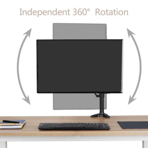 "Single Adjustable Arm Monitor Desk Table Mount Stand Single 15/""~32/"" Flat Screen"