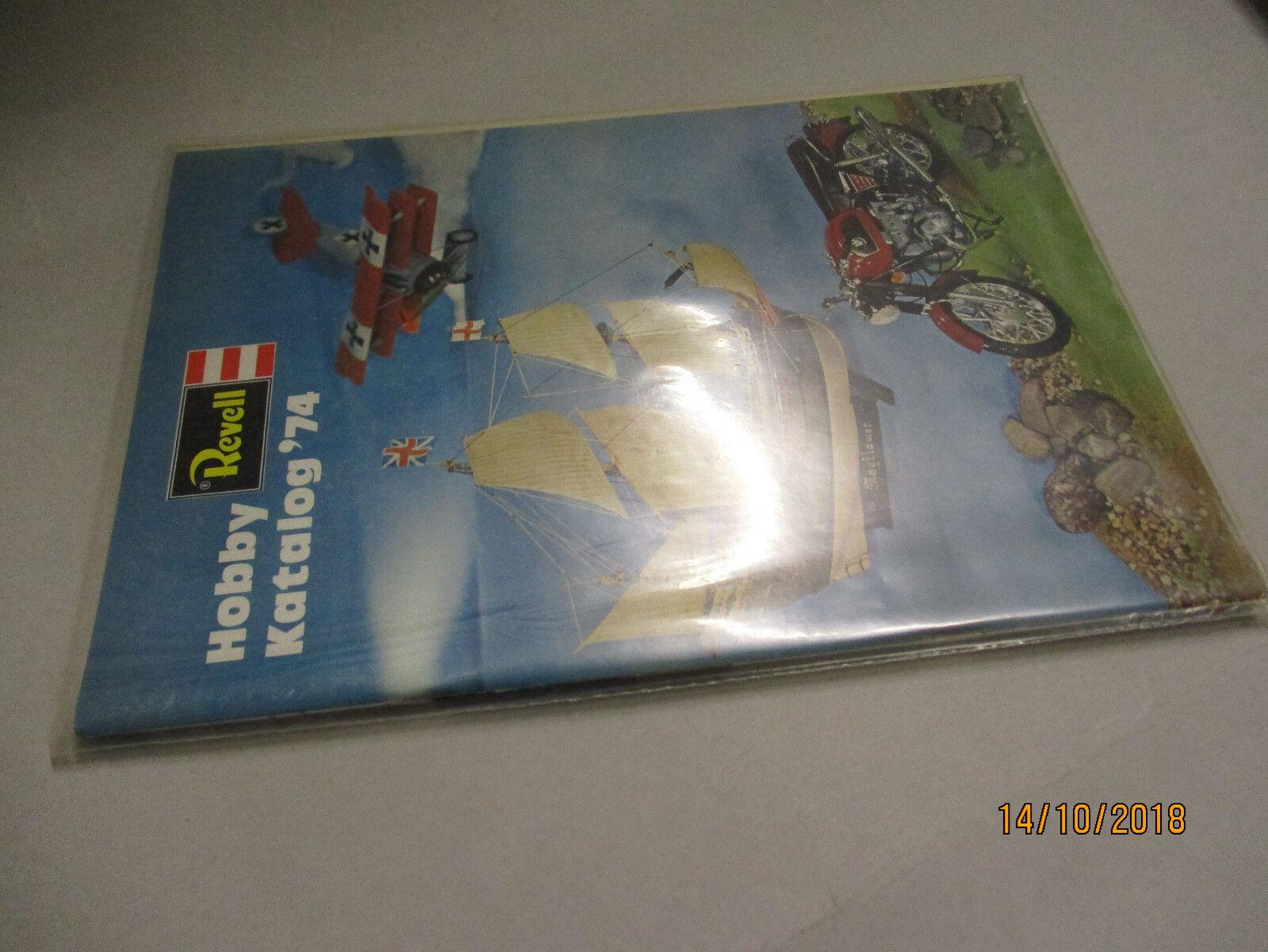 Revell Modèle Kits catalogue 1974 avec liste de prix 2 74