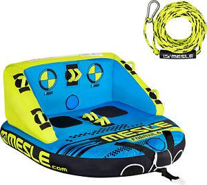 MESLE Tube Formula mit 2 Personen Leine, Towable, Fun-Tube, Wasser-Sport, Boot