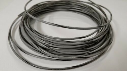 18 AWG TFN SOLID COPPER WIRE 25 FT GRAY WITH BLACK STRIPE GREAT FOR TRAIN WIRE
