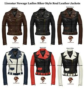 Lionstar-Newage-Top-Quality-Ladies-Biker-Style-Fashion-Real-Leather-Jacket