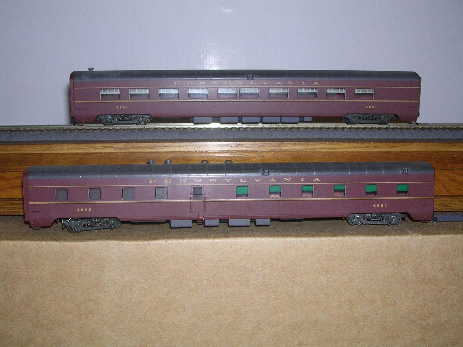 BRASS SOHO  1204  P.R.R. 2-Unit Dining Cars  4620 &  4621  H.O. 1 87
