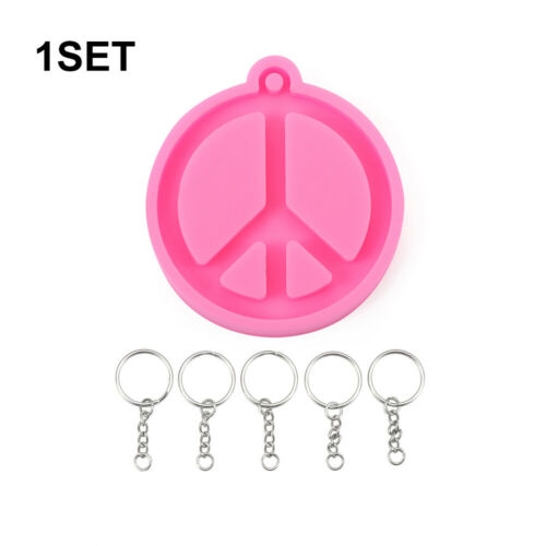 Tools Peace Symbol Clay Mold Silicone Mould Keychain Molds Candy Chocolate Mold