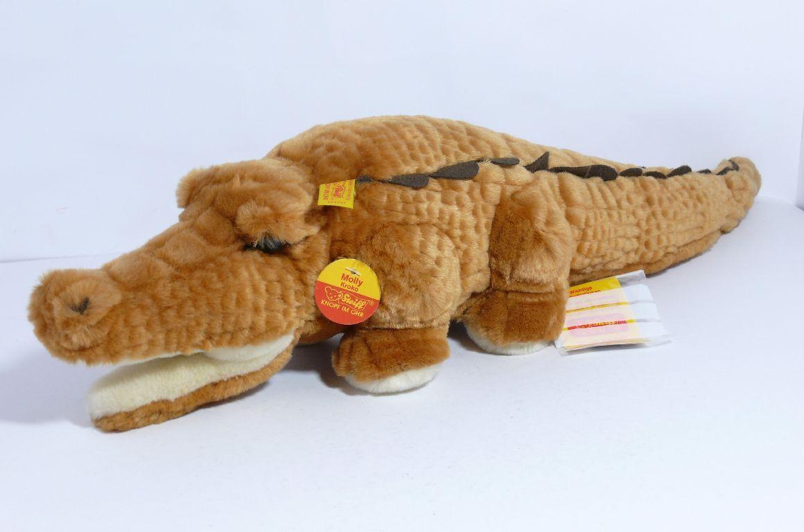Steiff 104442     Moly Kroko   Krokodil    mit Fahne und Knopf   sehr selten b46dc7