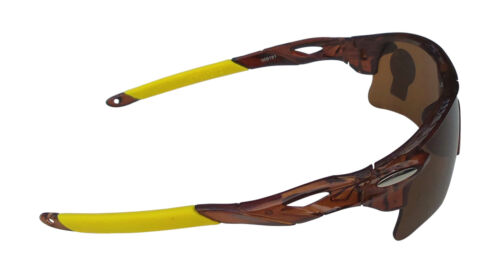 OULAIOU Sports Glasses Sunglasses Brown Plastic Frame Brown Polycarbonate Lense