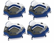 Intex River Run Connect Lounge Inflatable Floating Water Tube 58854EP (4 Pack)