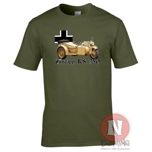Zundapp K750 WW2 German military motorcycle T-shirt World Tanks World War 2
