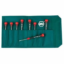 Wiha 26193 Slotted and Phillips Screwdriver Set w/ PicoFinish Handle 8 Piece
