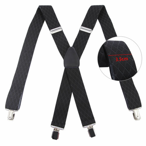 Elastic Braces Mens Ladies 3.5cm Fancy Dress Suspenders X//Y-Shaped 4 Color