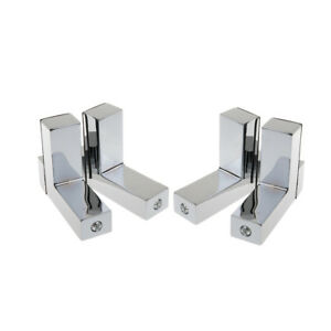 Silver 4X Solid Metal Adjustable Wood//Glass Shelf Bracket Glass Clamp Holder Wall Mounted S