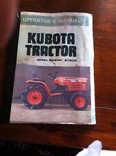 Kubota tractor manual paper version
