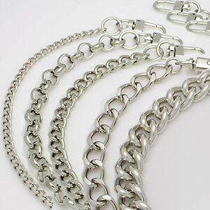 Bag metal chain strap silver shoulder strap handbag purse handle ...