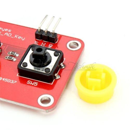 For Arduino AD Keyboard Electronic Blocks Simulate Five Key Module Analog Button