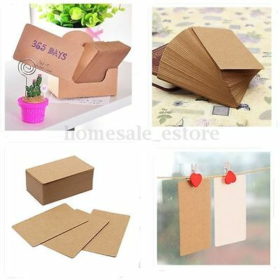 100X 5.5*9cm Kraft Paper Gift Tags Scallop Label Blank Luggage Message Note Card