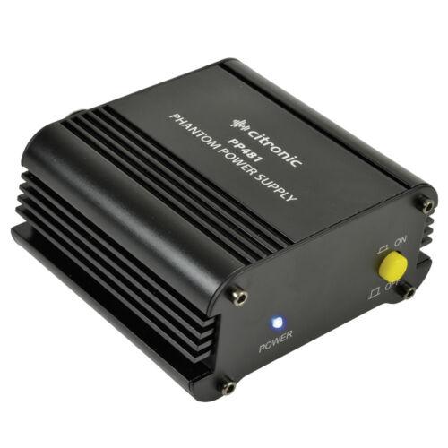 Citronic PP481 Single Channel 48V Phantom Power Supply Unit 48V