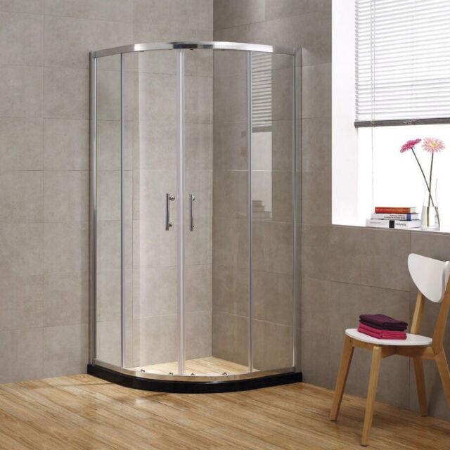 Seesuu 8mm Premium Easy Clean Tempered Glass Sliding Quadrant Shower