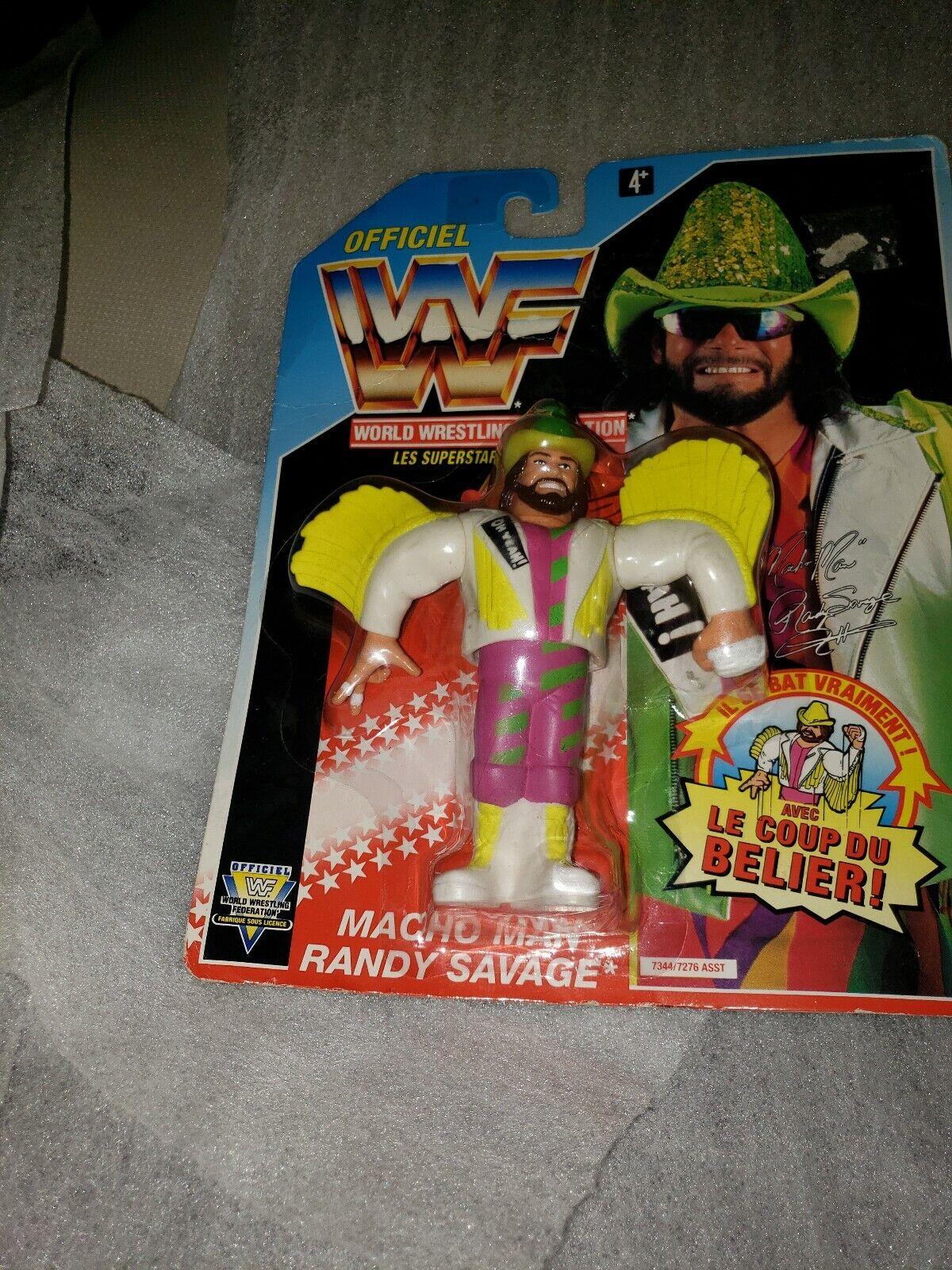 WWF Hasbro Macho uomo Rey Savage 1993 SERIE 5 Wrestling cifra Straniere autoD