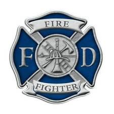 Firefighter Cross Sticker - Fire Department Blue Shield Truck Decal