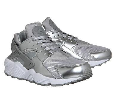 Nike Air Huarache Metallic Silver UK 4
