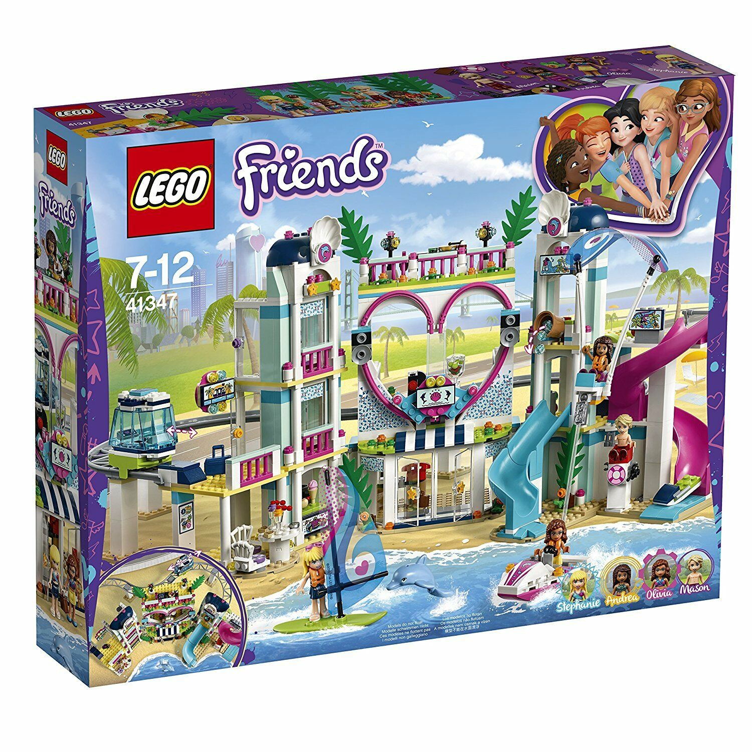 LEGO FRIENDS IL RESORT DI HEARTLAKE CITY 41347 -nuovo-italia