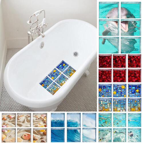 6x Bath Tub Shower Treads Non Slip Anti Skid Safety Applique Mat Strip Grip DET