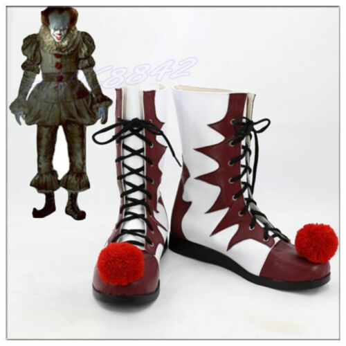 New Cosplay It Pennywise Boots Carnival Clown Boots Halloween Shoes.2018