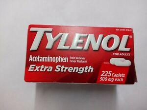 Tylenol-Extra-Strength-500mg-Acetaminophen-225-Caplets-Exp-04-2020-New-in-Box