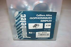 50 Colliers Atlas Simple Isophonique Acier Zingué 7 X 150 Mm Ø 28 Mm Plombelec Fabrication Habile